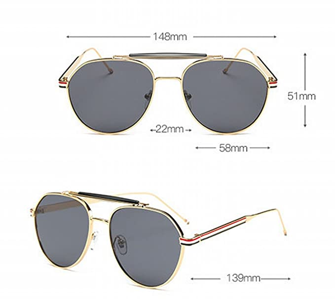 Retro Eyewear Mandel Spiegel Bunte Sonnenbrille Goldrahmen Ozean Lila Rahmen xFSebYKp