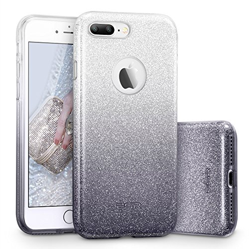 ESR iPhone 7 Plus Case,Glitter Sparkle Bling Case [Three Layer] for Girls Women [Shock-Absorption] for 5.5 iPhone 7 Plus(2016 Release)(Dark)