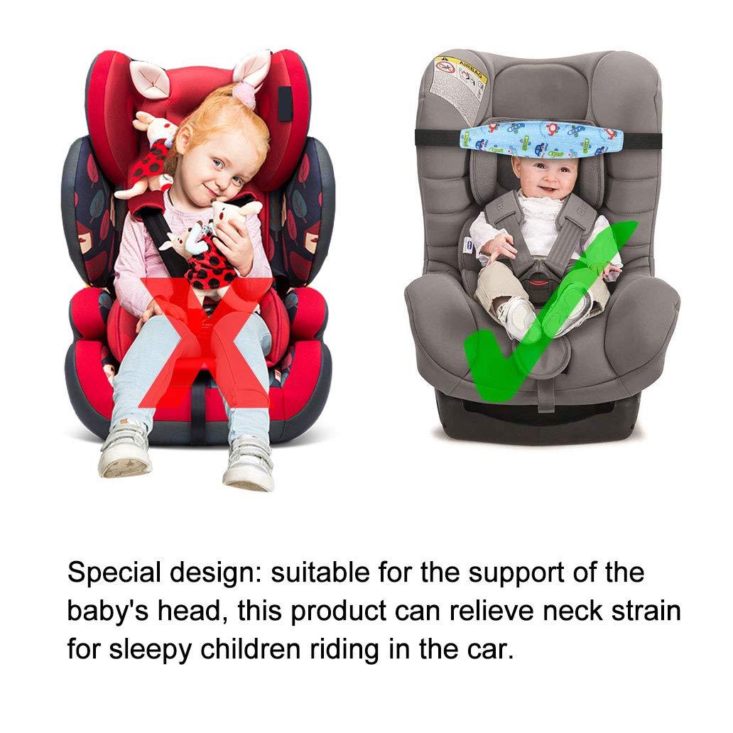 Silingsan 3 pcs Soporte Cabeza Sujeta Cabezas Coche para Niños Fijación de la Correa de Seguridad posicionador la Cabeza para Cinturón de Seguridad de ...