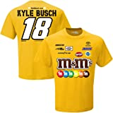 NASCAR Men's-Driver/ Sponsor-Team Uniform T-Shirt-Kyle Busch #18-M&M's-Gold-Large