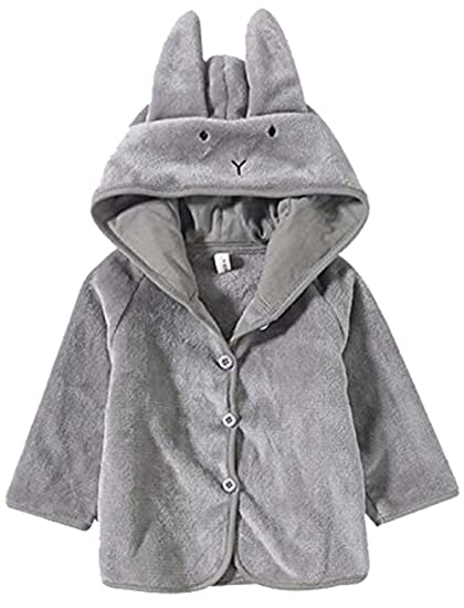 df43f1c3c Amazon.com  Baby Boys Girls Fleece Cartoon Ears Hoodie Jacket Winter ...