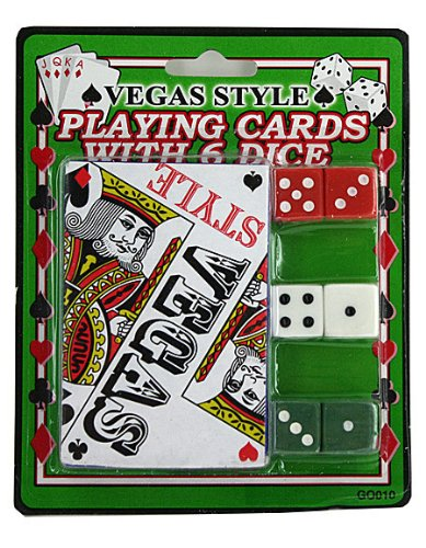 Casino Style Playing Cards with Dice -