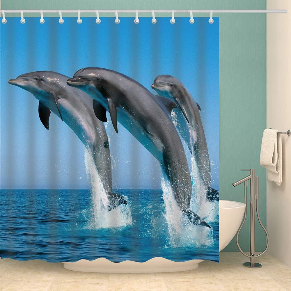 Modello di Stampa di Digital 3D Tenda per la Doccia Lavabili per Il Bagno Lifemaison Tenda da Doccia Impermeabile con Ganci