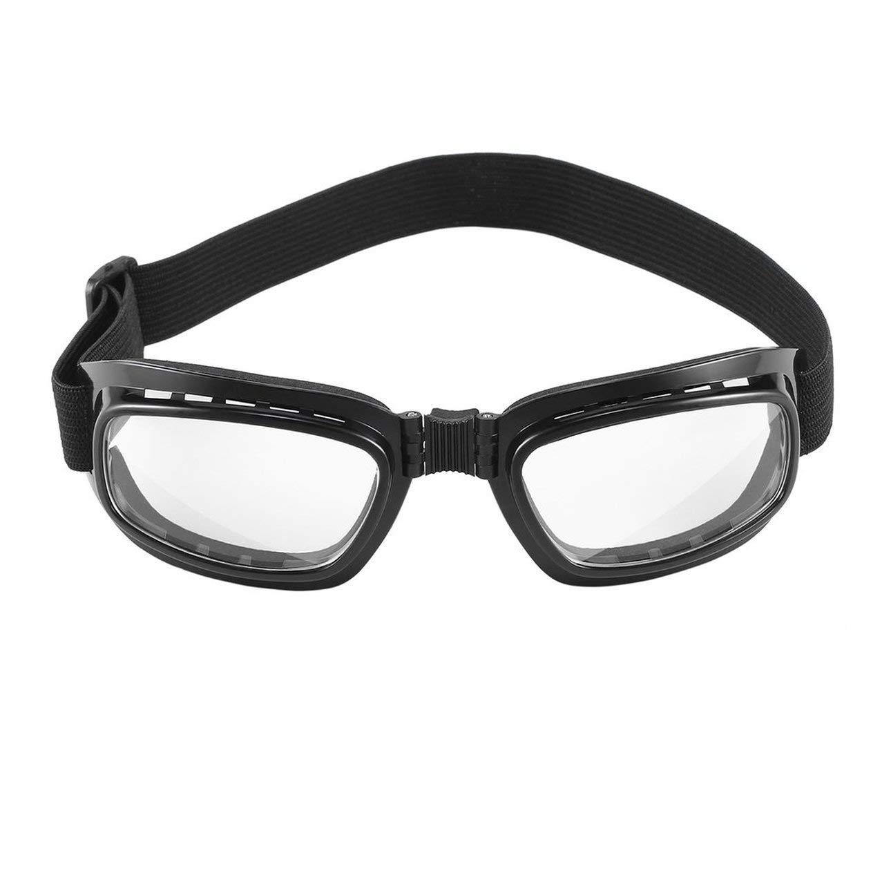 Liobaba Foldable Vintage Motorcycle Glasses Windproof Goggles Ski Snowboard Glasses Off Road Racing Eyewear Dustproof Goggles
