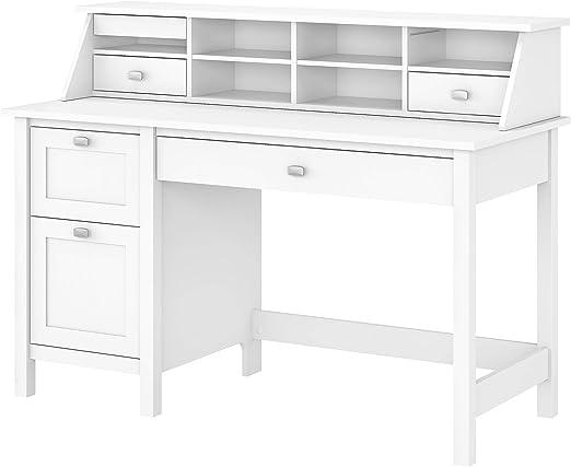 Amazon Com Bush Furniture Computer Desk Pure White Kitchen Dining