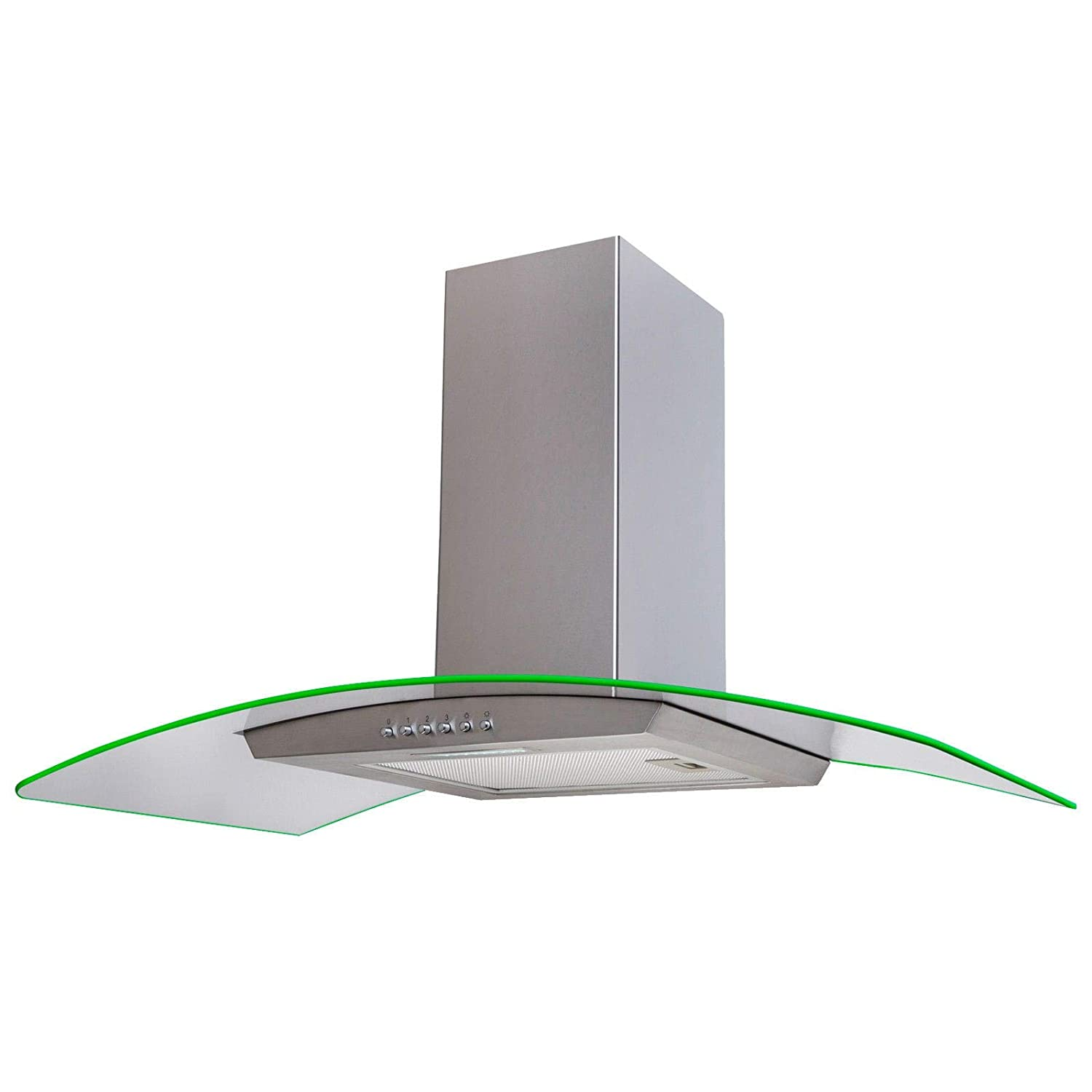 Curved cooker hood 90cm truck swing case