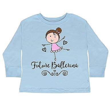 d5f4a4cc inktastic - Future Ballerina Toddler Long Sleeve T-Shirt 2T Light Blue 33267