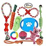 Multiple Choice Dog Rope Toys by FONPOO | Durable Dog Chew Toys for Excessive Chewer | Interesting Dog Interactive Toys | 100% Safe Best for Small to Medium Dogs | 10 Pack Gift Set