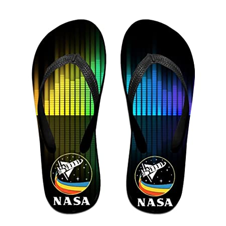 5e8a08ec3 Forest Station Retro Rocket NASA Rainbow Flip Flops Sandals Beach Shower  Slippers: Amazon.co.uk: Kitchen & Home
