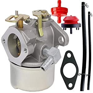 HOOAI Carburetor for Tecumseh 640298 OHSK70 OH195SA Engines 5.5hp 7hp Models Oregon 50-666 for Many 2 Stage Snow Blowers 4 Cycle Engines - Tecumseh 640298 Carburetor (640298)