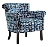 Homelegance Barlowe Flared Arm Accent Chair with Button Tufted Back, Chain Link Print Finish