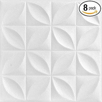 Amazon Com A La Maison Ceilings R103 Perceptions Foam Glue Up Ceiling Tile 21 6 Sq Ft Case Pack Of 8 Plain White Home Improvement