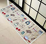 Kitchen Tableware Cute Mats Bedroom Non-slip mats Floor mats Skid Doormat Door Ottomans Carpet 45*115cm