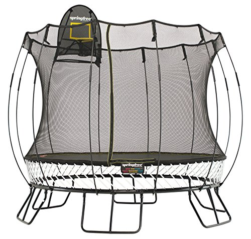 Springfree Trampoline 10ft Medium Round Trampoline With Basketball Hoop and Ladder
