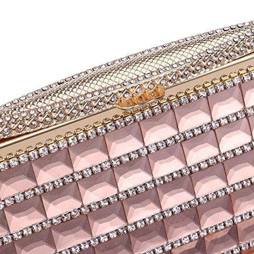 Lujo color Mujer Embragues Diamantes Noche Yy4 Kervinfendriyun Mini Cute De Pink Red Discotecas Bolsos Small Bolso Para qxt6qvw4
