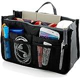 Insert Bag Organizer, Bag in Bag for Handbag Purse Organizer (13 Pockets, Black)
