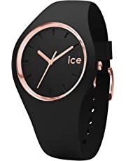 Ice-Watch - Ice Glam Black Rose-Gold - Schwarz Damenuhr mit Silikonarmband