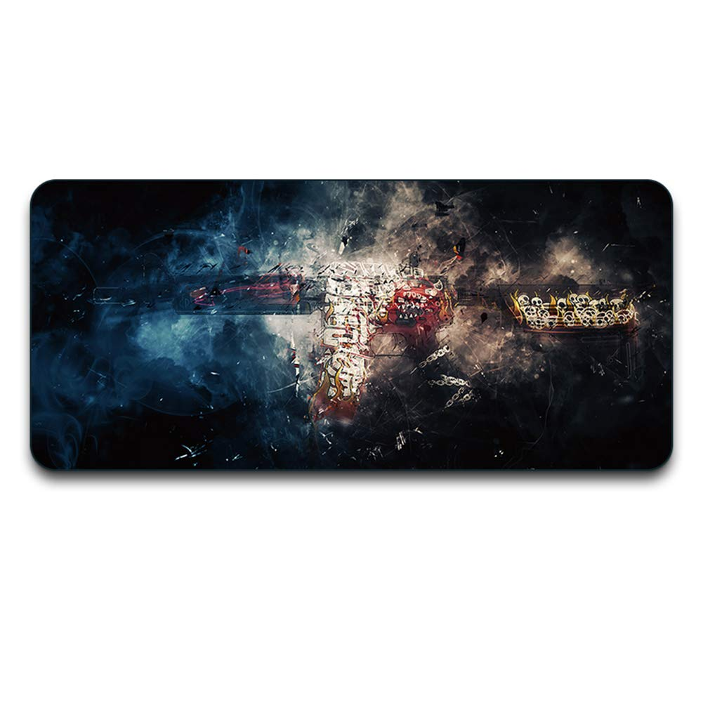 YEQQ Mouse Pad, Extended XXL Large Professional Gaming Mouse Mat with 3mm-Thick Rubber Base, for Computer Desktop, Computer Keyboard, Personal Computer and Laptop-2 by YEQQ