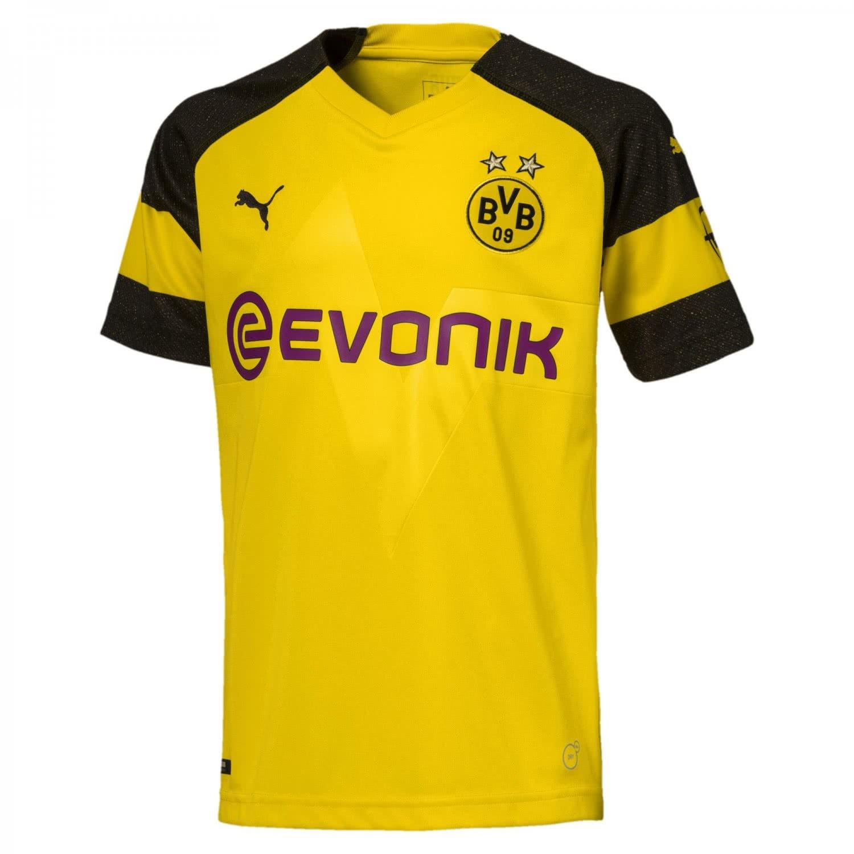 PUMA Kinder Bvb Home Shirt Replica Jr Evonik with Opel Logo Trikot, gelb (Cyber Yellow), 128