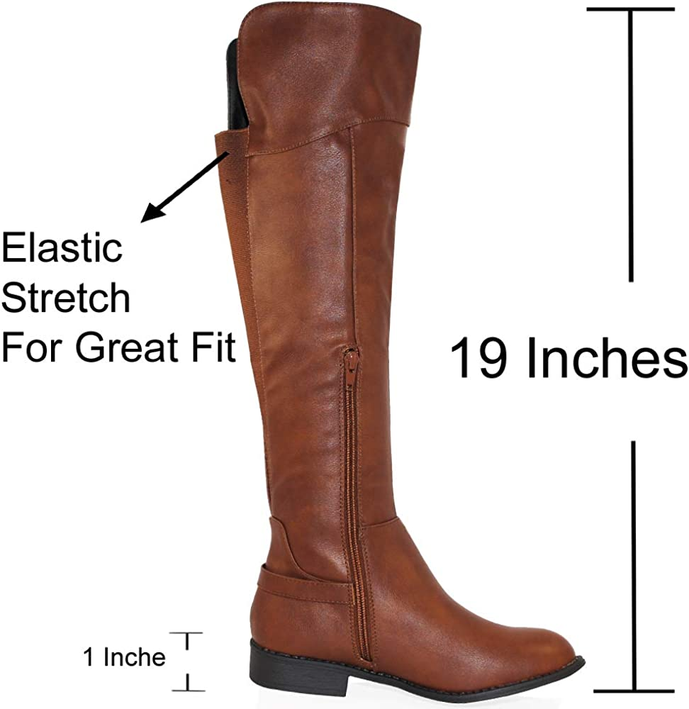 TRENDSup Collection Womens Knee High and up Riding Boots