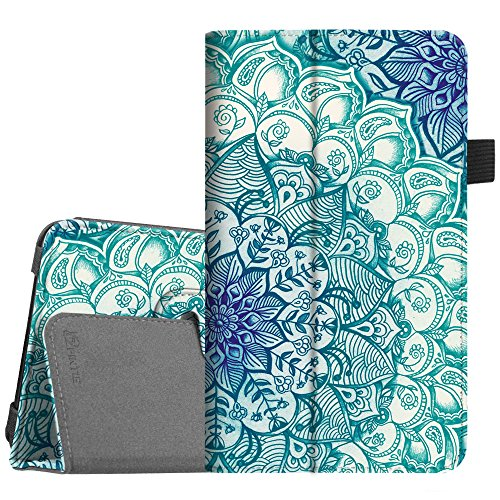 Folio 7 Tablet (Fintie Folio Case for Samsung Galaxy Tab A 7.0 - Premium Vegan Leather Slim Fit Folio Stand Cover Samsung Galaxy Tab A 7.0 7-inch Tablet 2016 Release (SM-T280/SM-T285), Emerald Illusions)