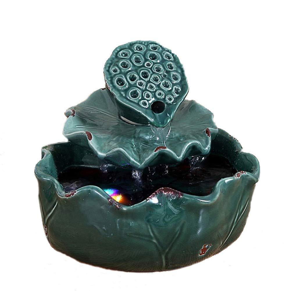 空気加湿器クリエイティブロータス卓上装飾装飾セラミック工芸絶妙なギフト B07NQHNXWZ