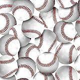 Baseballs No Sew Fleece Throw Kit