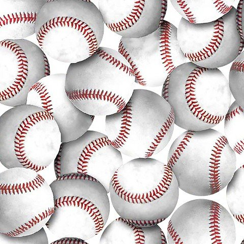 Baseballs No Sew Fleece Throw Kit by baseballs