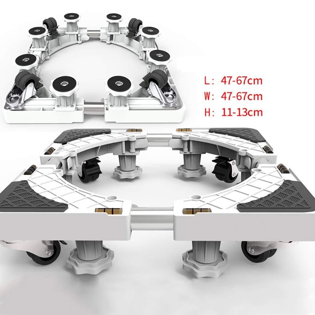 洗濯機ベース洗濯機ブラケットユニバーサルホイールブラケット洗濯機シェルフパッド高調節可能な動き (サイズ さいず : 47-67 * 47-67 * 11-13cm-c) 47-67*47-67*11-13cm-c  B07H3JC2LC