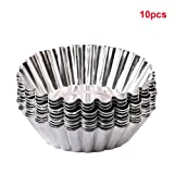 10Pcs Egg Tart Mould Home Kitchen Baking Tool