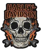 Harley-Davidson Embroidered Skull Mouth Emblem, 3XL 10 x 11.25 inch EM196667