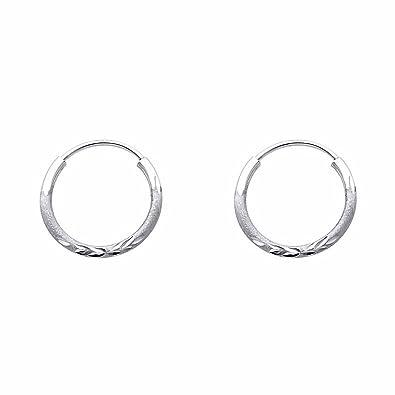 73cb18593dd52 1.5mm Diamond Cut Small 15mm Diameter 14K Gold Endless Hoop Earrings