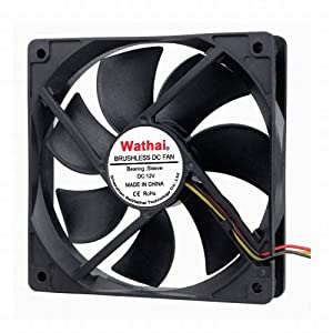 Wathai 120mm x 25mm FG 12V 3Pin DC Computer Case Fan CPU Cooling Fan with Metal Finger Guard Grill