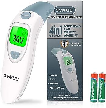 Bébé Digital Front Thermomètre Thermomètre Auriculaire 4 en 1 avec fièvre alarme adultes