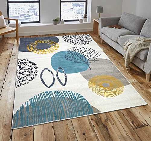 Blue Grey Rug Amazon Co Uk