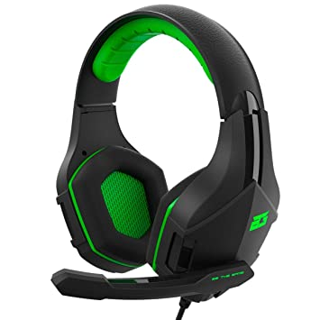 BG Vicker Binaural Diadema Negro, Verde Auricular con micrófono - Auriculares con micrófono (Consola