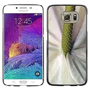 Be Good Phone Accessory // Dura Cáscara cubierta Protectora Caso Carcasa Funda de Protección para Samsung Galaxy S6 SM-G920 // Green White Flower Tropical Nature