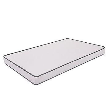 Primavera - Colchón para cama, poliuretano, 120 x 190 cm, color blanco: Amazon.es: Hogar