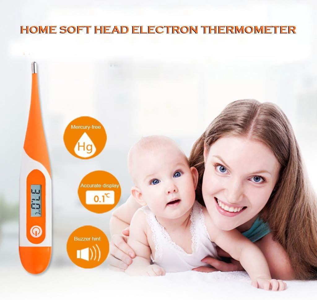 wasserdicht Elektronisches Fieberthermometer Oral-Thermometer F/ür Erwachsene Und Babys Thermometer Digital LCD Thermometer Temperaturmessung f/ür oral A axillar oder rektal