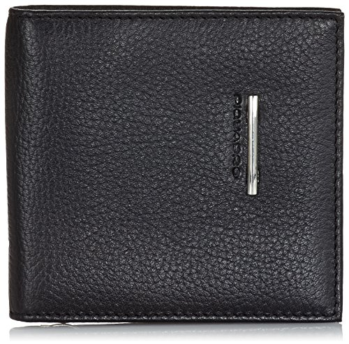 Piquadro Men's Wallet with Document Credit Card and Banknote Facility, Black, One Size by Piquadro