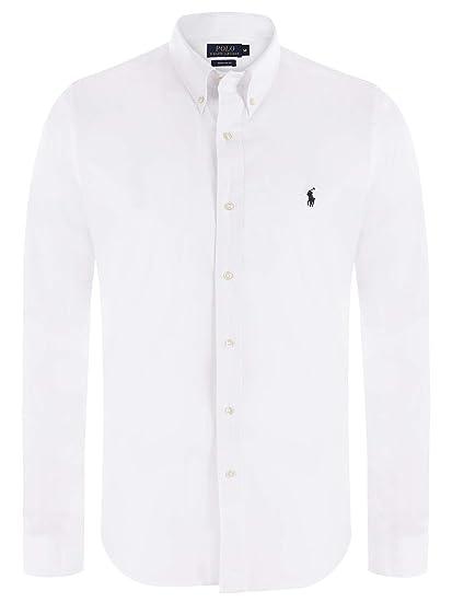Ralph Lauren - Camisa Casual - con Botones - para Hombre Weiß XL: Amazon.es: Ropa y accesorios