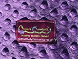 Creature Commforts Weighted Blanket - Medium 6 lbs 40'' x 30'' for kids, adults - Removable cover, soft minky duvet, organic insert - Heavy sensory blanket made in USA - Purple Violet