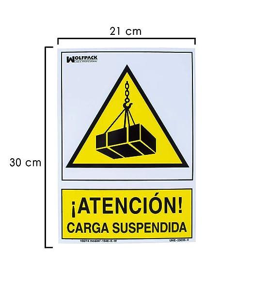 Wolfpack 15050545 Cartel Peligro Carga Suspendida 30x21 ...