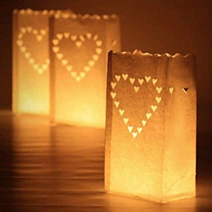 Image Unavailable. Image not available for. Color: Fashionclubs Luminaria Paper  Lantern Candle Holder Bag For Christmas ... - Amazon.com: Fashionclubs Luminaria Paper Lantern Candle Holder Bag