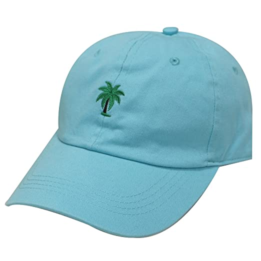 63a9b651070 City Hunter C104 Palm Tree Summer Cotton Baseball Cap 15 Colors (Aqua)