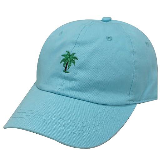 9cc16a62ef3 City Hunter C104 Palm Tree Summer Cotton Baseball Cap 15 Colors (Aqua)