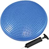 Flamant Exercise Core Balance Disc/Cushion - Great For Strengthen Core Stability and Decrease Back Pain - Air Pump Included by Monster Fitness