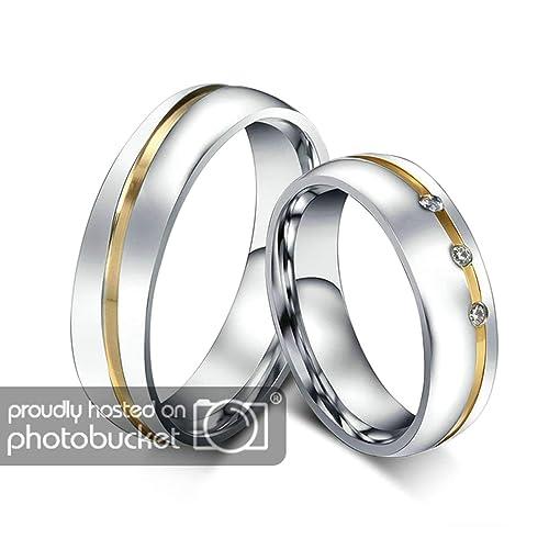 Amazon.com: Aooaz - Anillo de boda para pareja de 0.236 in ...