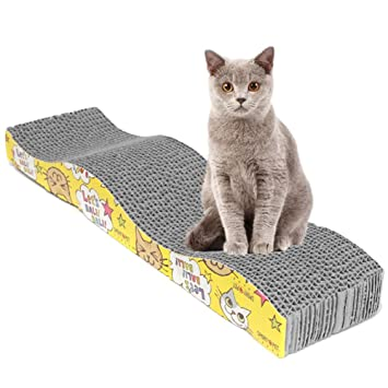 UxradG Rascador para gatos en forma de S para mascotas con alfombrilla para rascar la tabla de rascar, juguete para gato: Amazon.es: Productos para mascotas