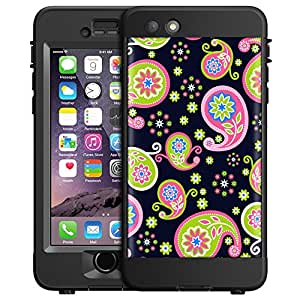 Skin Decal for LifeProof NUUD Apple iPhone 6 Case - Cute Paisley on Navy
